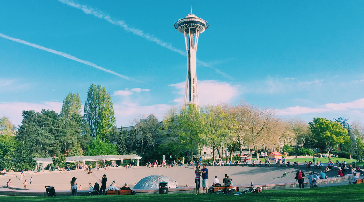 Space Needle in Lower Queen Anne