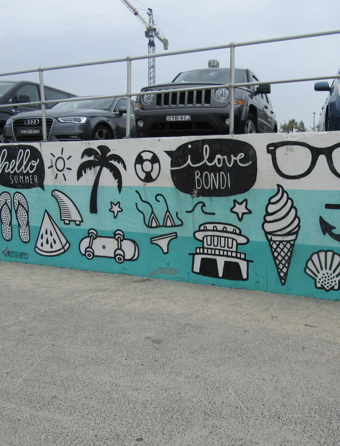 Bondi Beach artwork